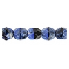 Fire Polished 6mm Black/Blue Combo